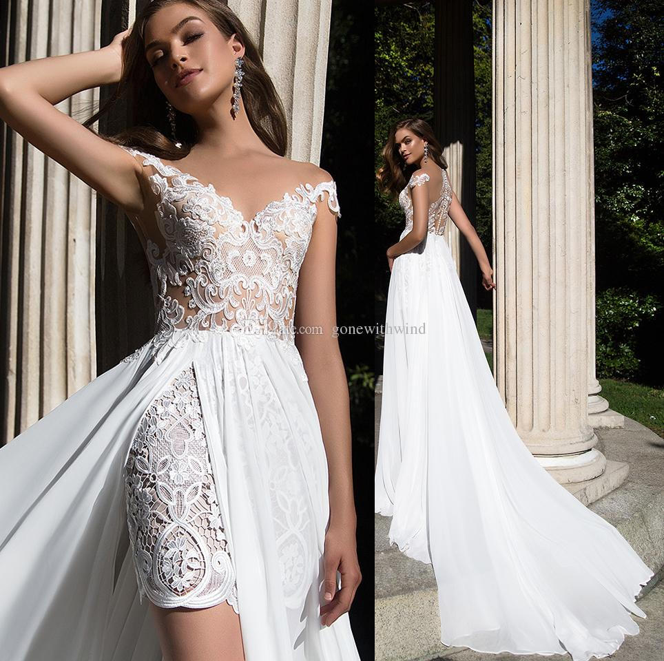 Sexy Summer Wedding Dresses 2017 Short Lace Gowns With ...