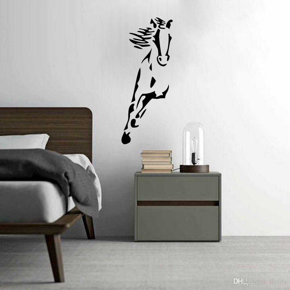Kids room wall decor stickers - Wild Running Horse Art Vinyl Wall Sticker Animal Creative Wall Decal For Home Decor Cartoon Wall Stickers Wall Decor Stickers Kids Room Stickers Online With