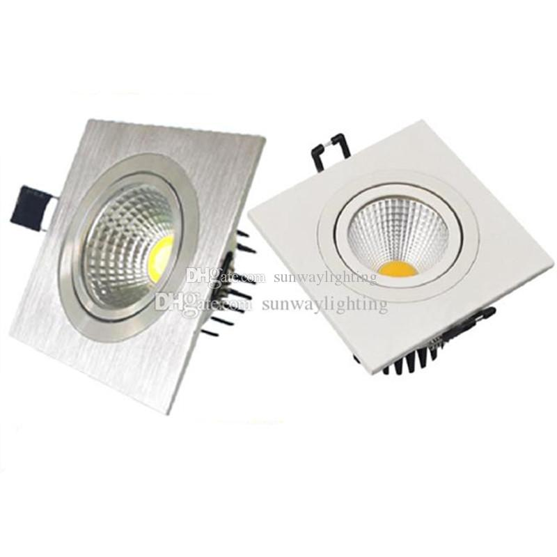 recessed square lighting. square cob led recessed ceiling down lights silver white 3w 5w 7w 9w 12w single head spotlights downlight led lighting saa ul
