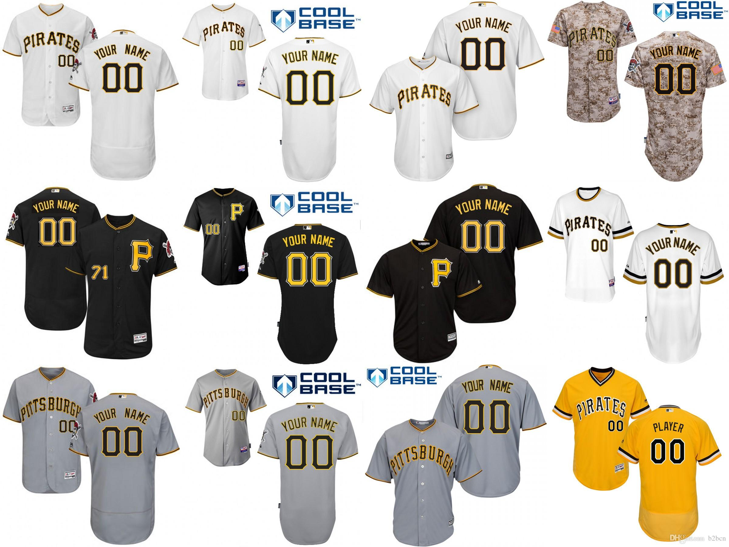 2016 Flexbase Custom Hommes Pittsburgh Pirates base fraîche Authentique Collecti