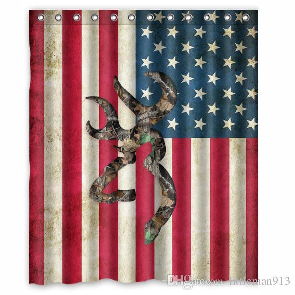 2018 Browning Deer Camo American Flag Custom Shower