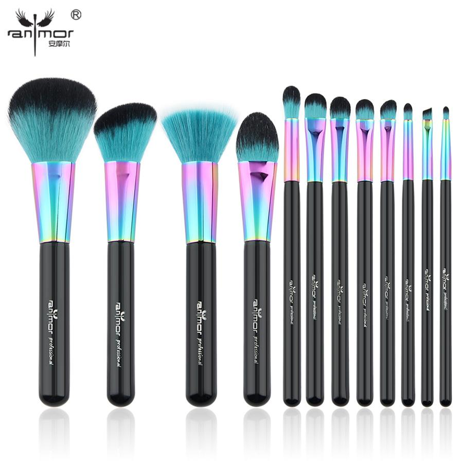 High Quality New Copper Makeup Brush Set Colorful Makeup Brushes ...