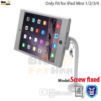 tablet pc display flexible gooseneck wall mount holder stand for ipad mini 12 3 4 security safe locked metal box foothold support arm flexible gooseneck