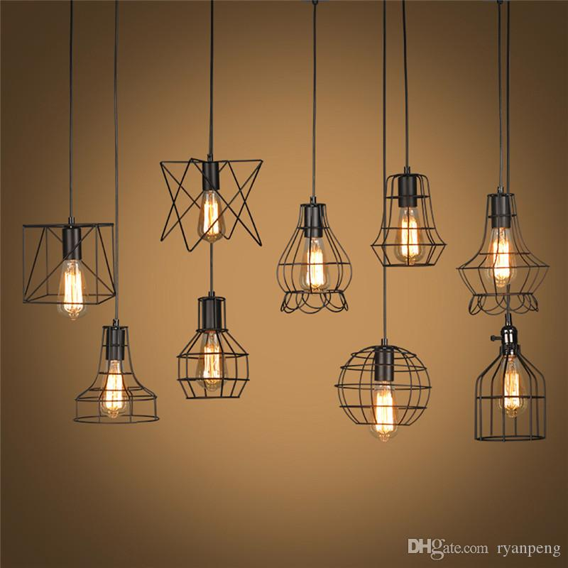 Retro Lamp Shades Industry Metal Pendant Lamps Holder