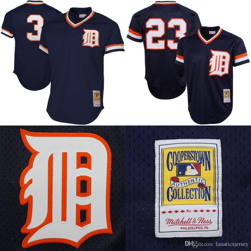 23 kirk gibson jerseys throwback detroit tigers baseball jersey 3 alan trammell retro 1984 authentic