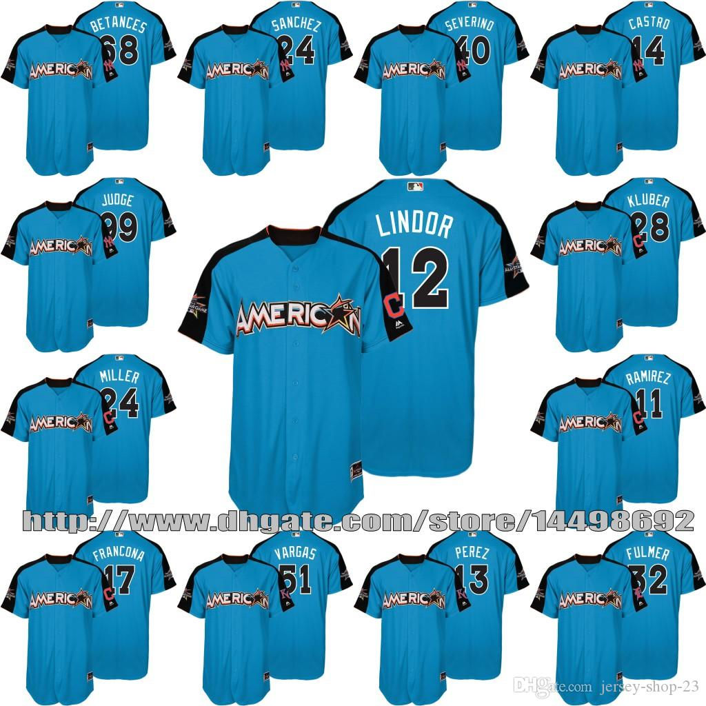 nicknames jersey 2017 all star mens youth american league 99 aaron judge 68 dellin betances 12 francisco lindor