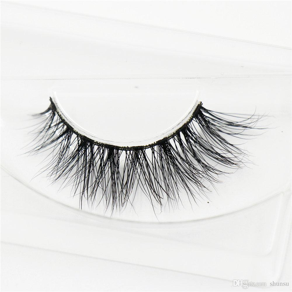 3D Mink Eyelash Real Mink Handmade Crossing Lashes Individual Strip Thick Lash F