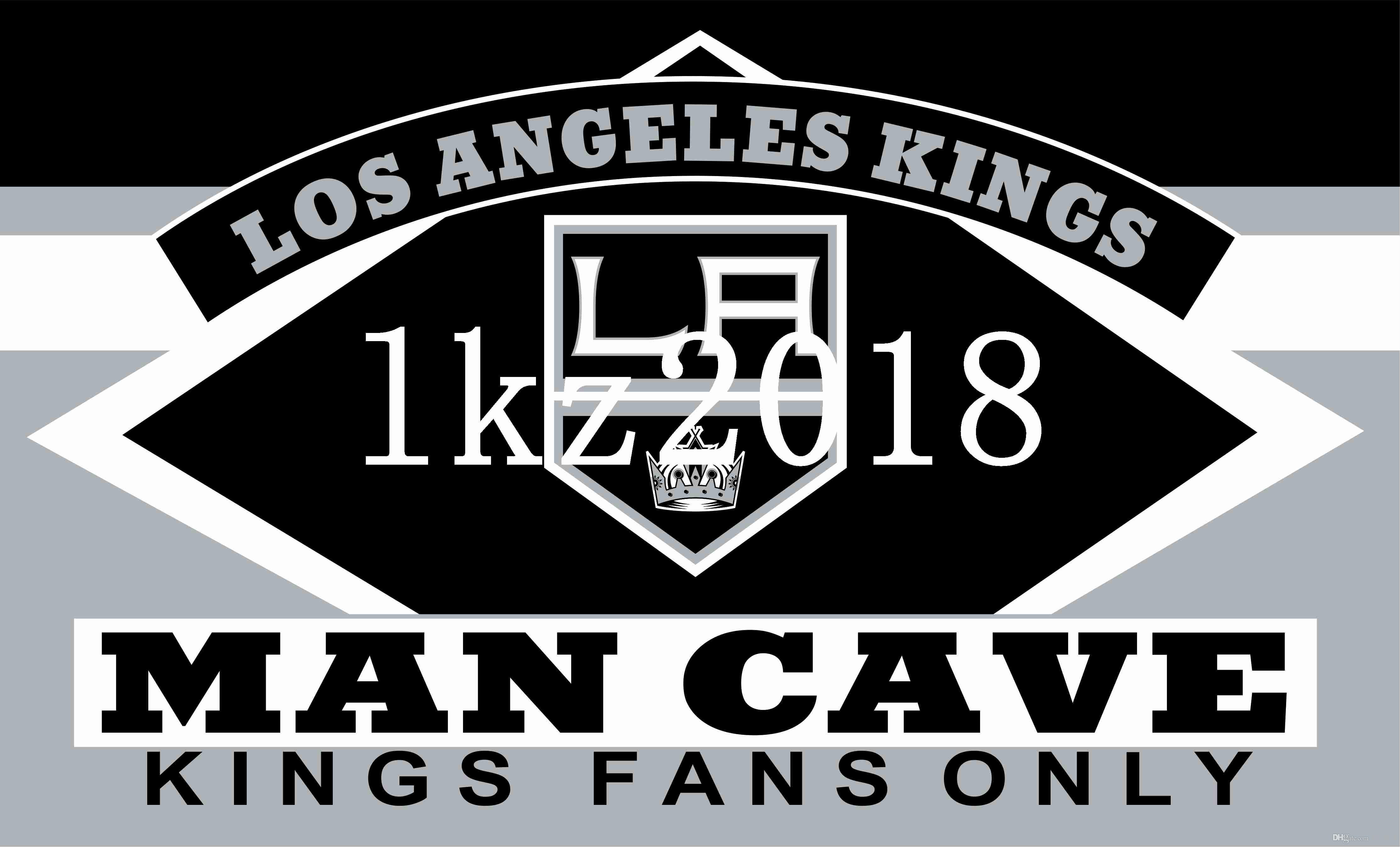Man Cave Kings Cross : Los angeles kings nhl logo flag for life and man