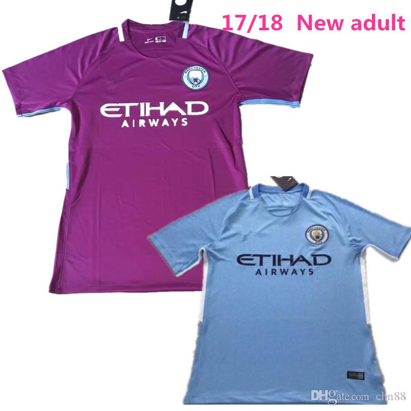 NOUVEAU 2017 hommes 2018 City Home Away Maillot de football 17 18 DZEKO KUN AGUE