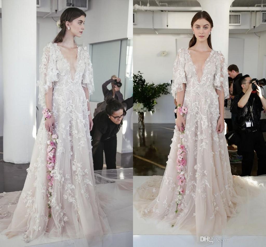 Discount Marchesa Fall 2017 3d Floral Princess Wedding