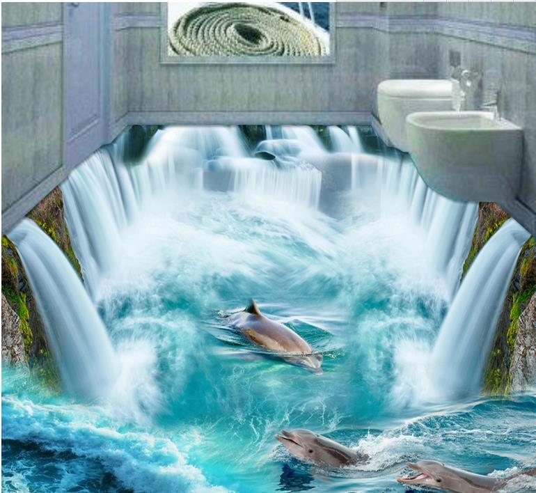 3d floor wallpaper murals custom 3d stereoscopic wallpaper for 3d waterproof wallpaper