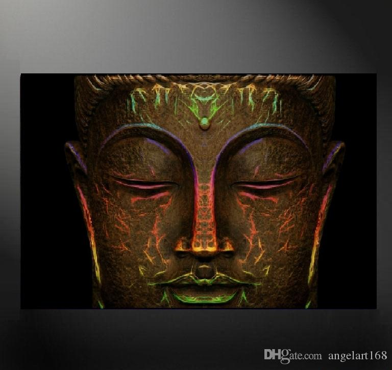 Abstract Buddha Canvas Painting