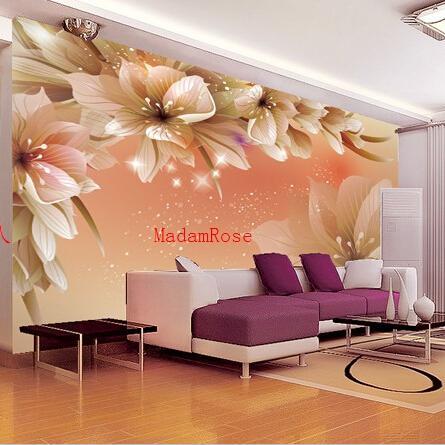 Wholesale WholesaleTulip Flower Murals D Wall Photo Murals TV - Bedroom mural