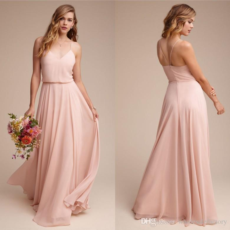 Cheap simple chiffon summer bridesmaid dresses 2017 new for Cheap formal dresses for wedding guests