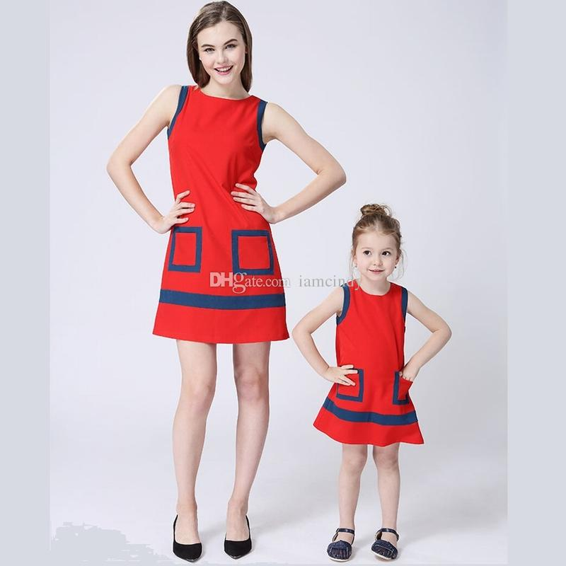 2017 summer mother daughter dresses kids formal dress for Mother daughter dresses for weddings