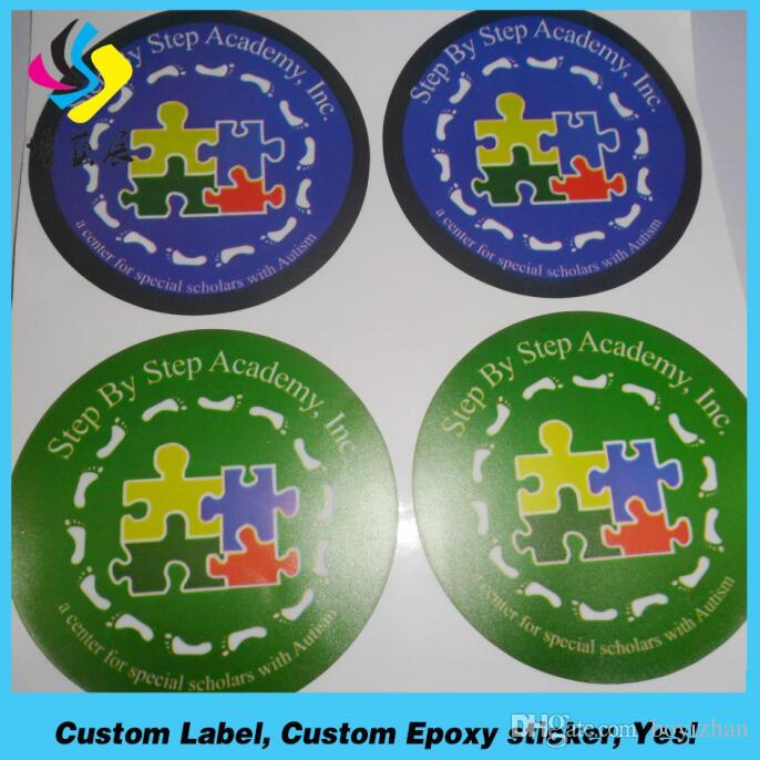 High Quality Custom Die Cut Round Adhesive Logo Vinyl Sticker - Custom die cut vinyl stickers printing
