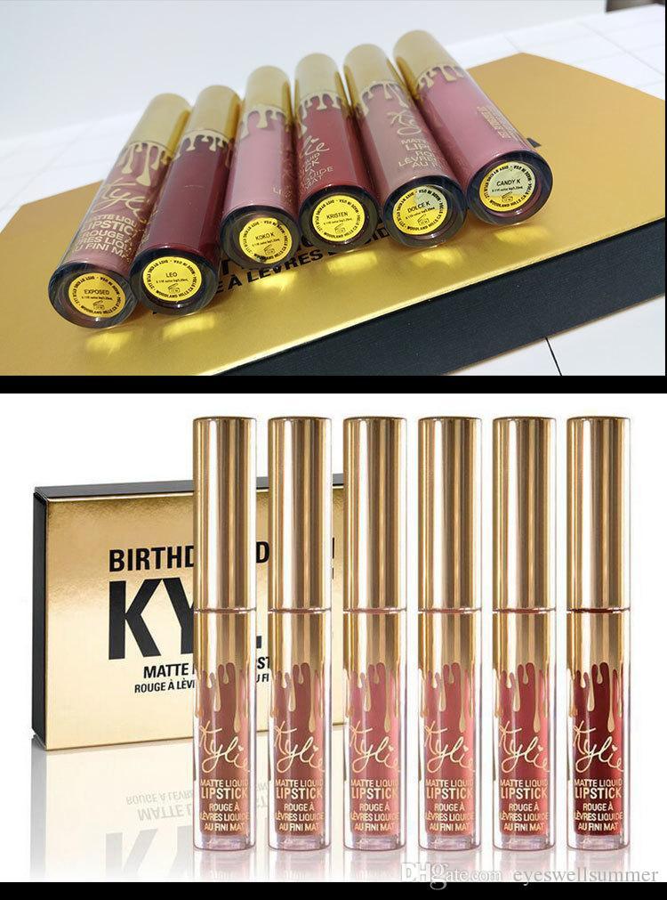En stock Kylie Jenner Articles Anniversaire / Fête Editions Eye Shadow Eyeliner Mascara Palette Kit Set Lip Gloss Rouge à lèvres