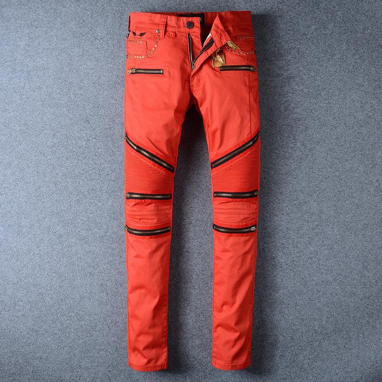 2017 New Red Robin Zipper Jeans Men Classic Biker Jeans Wash ...