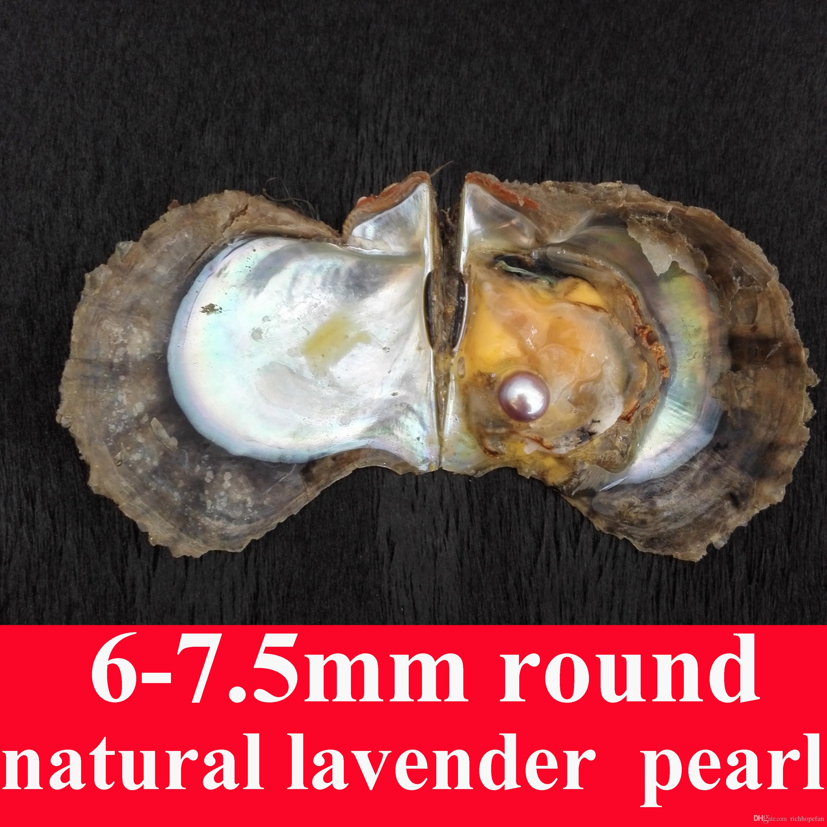 10 PCS Livraison gratuite Love wish pearl oyster 6.0-7.5mm naturel WHITE assorti