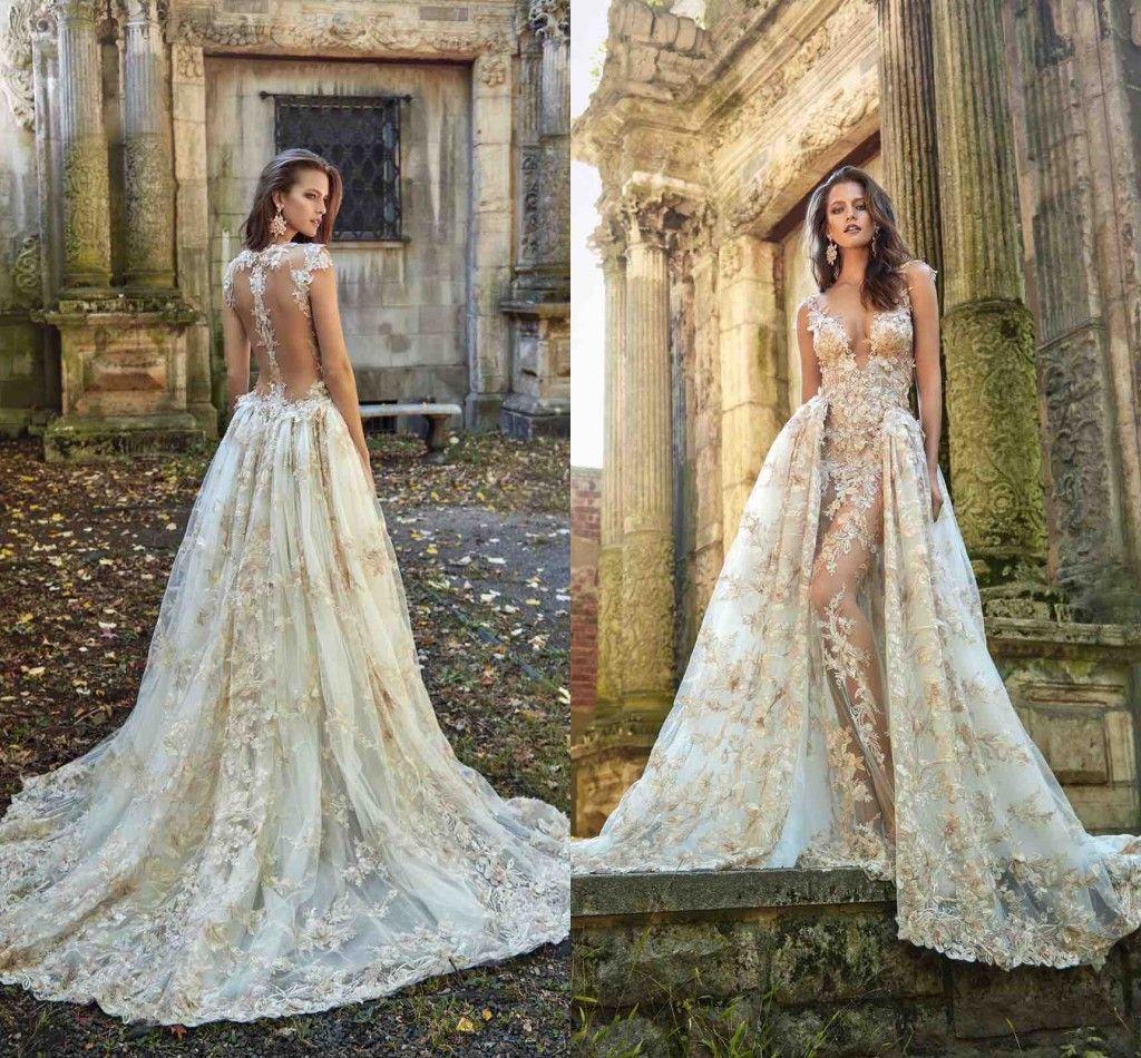 Wedding dresses with detachable skirt train 2017 newest for Wedding dresses no train