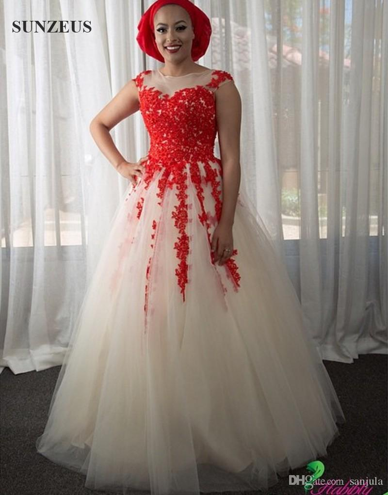 Tulle champagne wedding dresses with red appliques lace african tulle champagne wedding dresses with red appliques lace african women bridal gowns colorful marriage dress long casamento 2016 champagne wedding dress red ombrellifo Choice Image