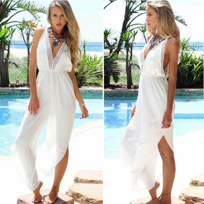 2017 Jumpsuits Plus Size Pants Beach Romper Suit Women Fashion ...
