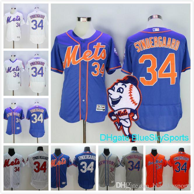 noah syndergaard jersey new york mets 34 flexbase baseball jerseys white blue gray mens shirts all