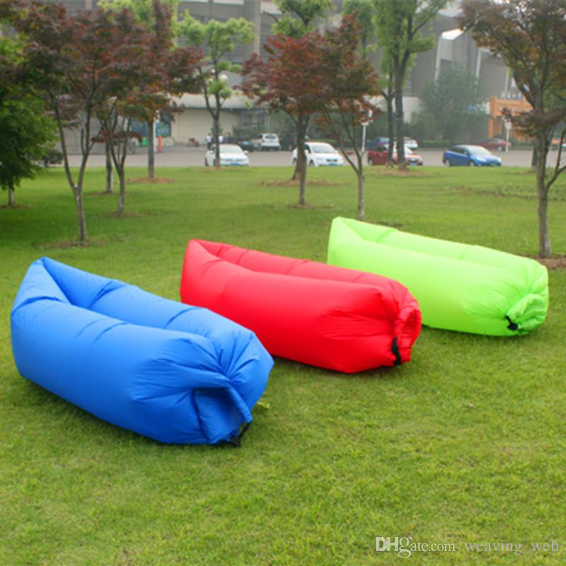 Dhl free multicolors sleeping bags red green blue lazy bag for Outdoor christmas activities for adults