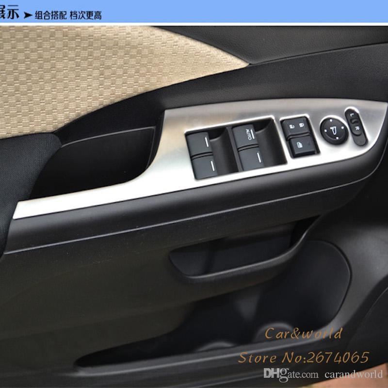 2018 for honda crv cr v 2015 2016 auto interior window lifter switch button cover inner door. Black Bedroom Furniture Sets. Home Design Ideas