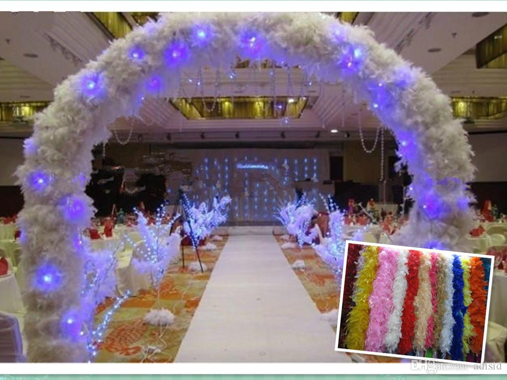 Wholesale feather wedding decorations 2m long boa fluffy for Cheap wedding decorations in bulk
