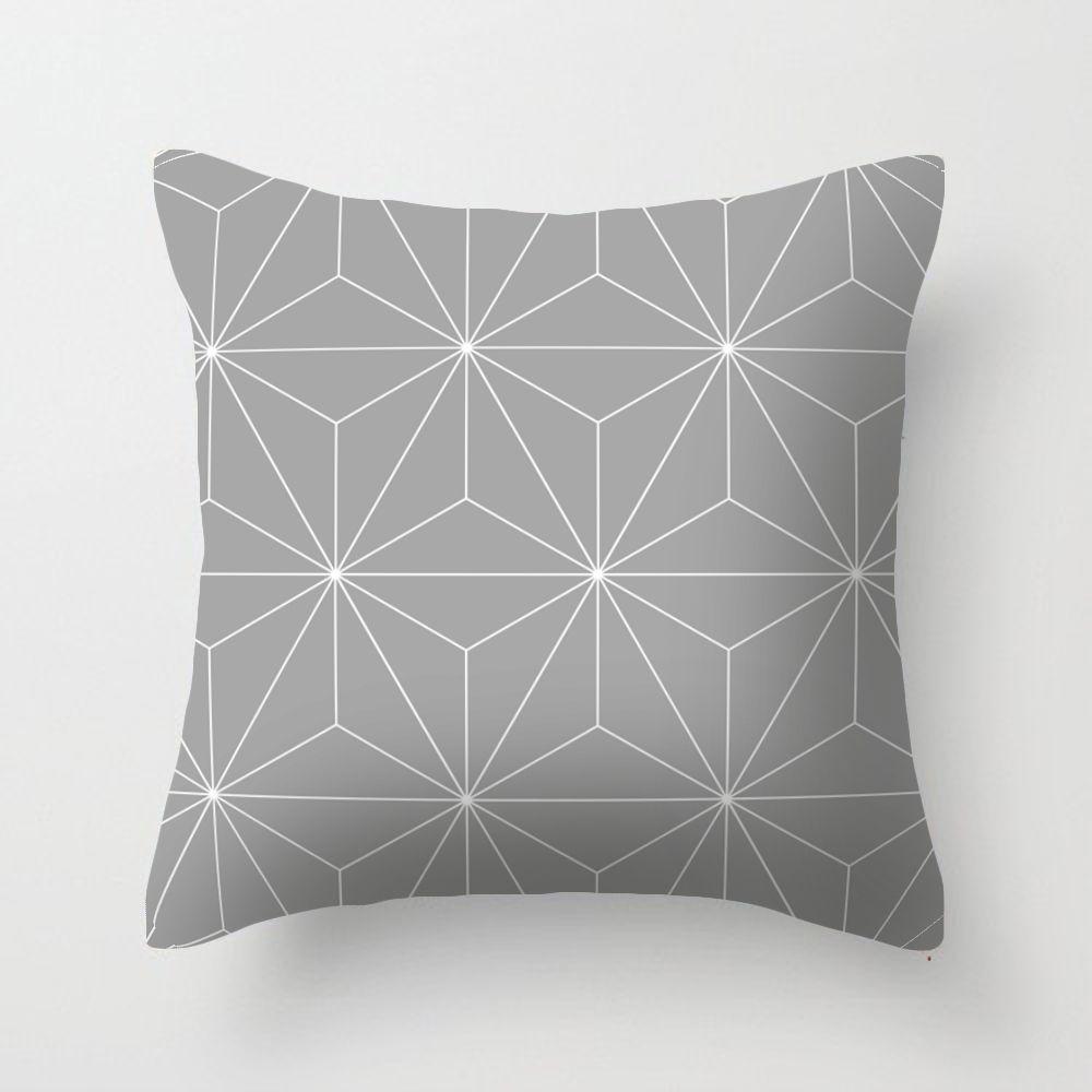 4545cm simple modern grey geometric cushions cover sofa pillow covers decorative waist pillowcase living room grey geometric cushions cover sofa pillow