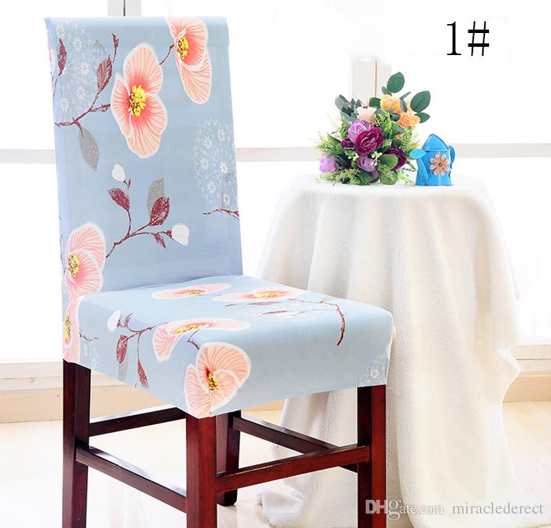 Chair CoverRemovable Washable Elastic Stretch Slipcovers Short Dining Room Seat Cover Protector Slipcover Removable