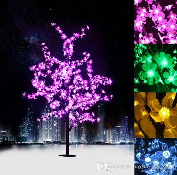 led crystal cherry blossom tree lights christmas new year luminaria decorative tree. Black Bedroom Furniture Sets. Home Design Ideas