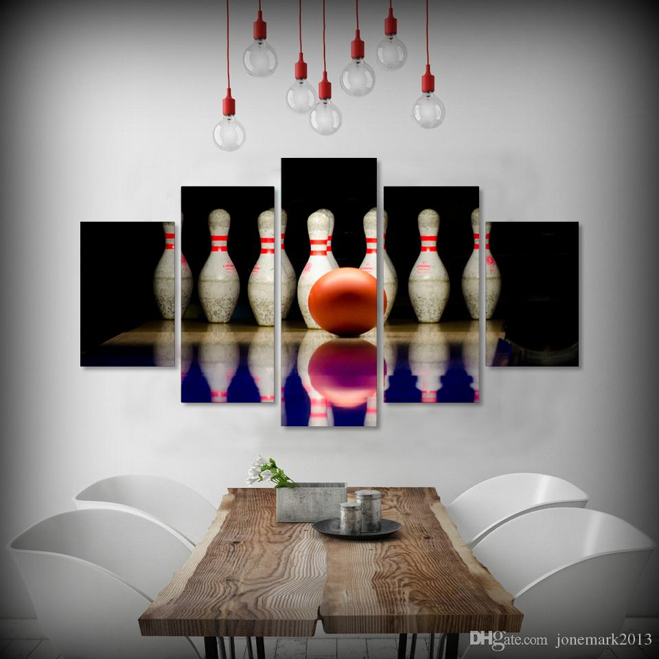 bowling posters online bowling posters for sale 5 piece framed hd printed bowling ball sports canvas art painting poster picture home decor reproduction painting