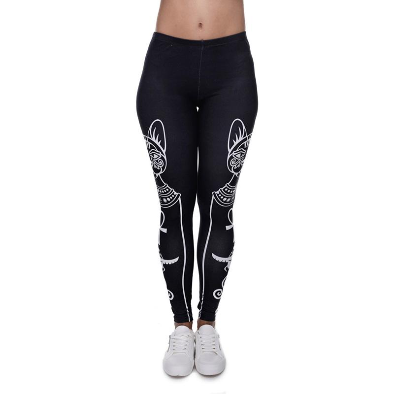 2017 Women Leggings Egyptian Cat Symbol 3d Graphic Print