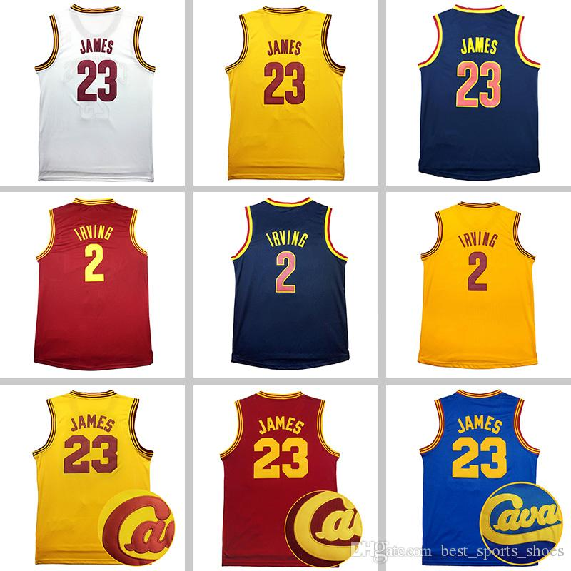 2017 Men Broderie Kyrie Irving # 2 jersey LeBron James # 23 Maillot de basket 10