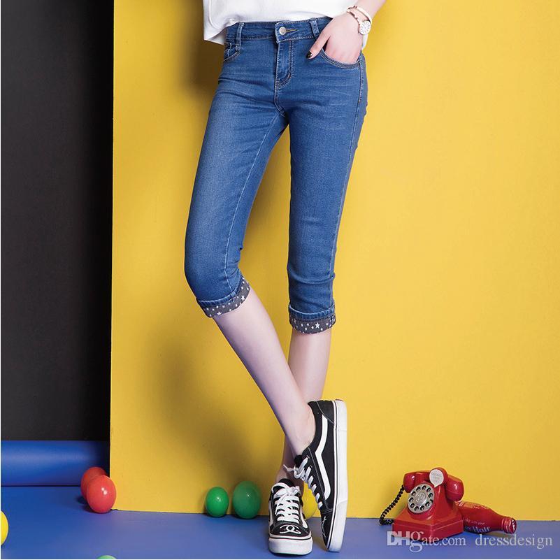 2017 Cowboy Jeans High Quality Designer Jeans Brand Knee Length Jeans Discount Wholesale