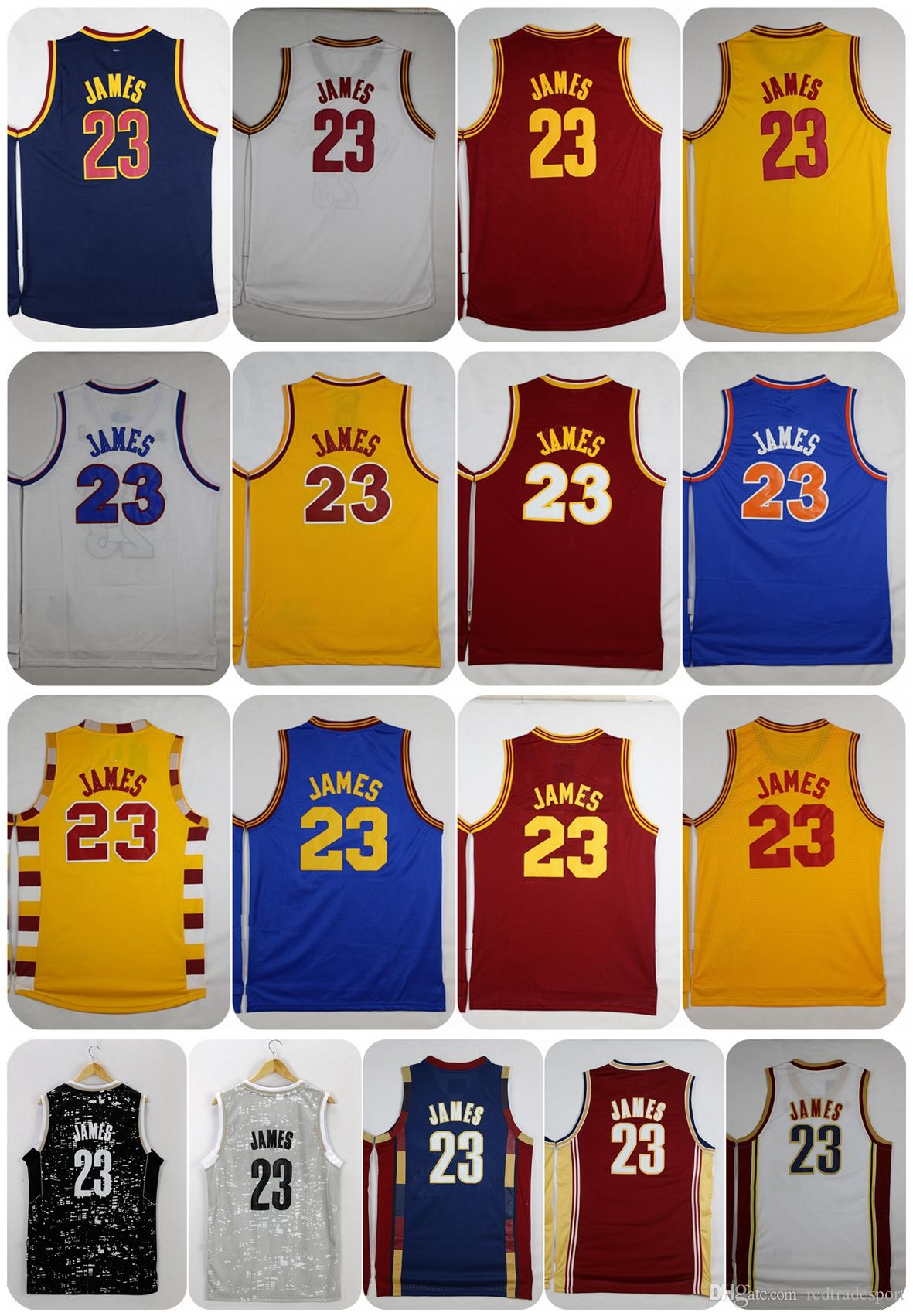 Maillots de basket-ball 2017 LeBron James 23 LeBron James Throwback Rookie Retro