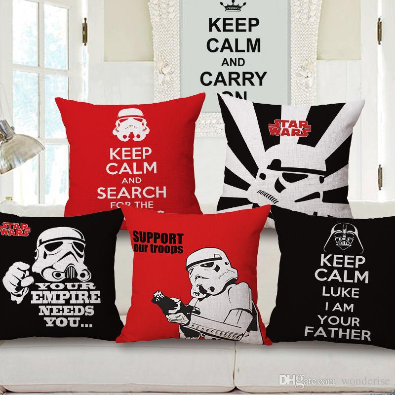 Star Wars Cushion Covers Yoda Darth Vader Empire Troops