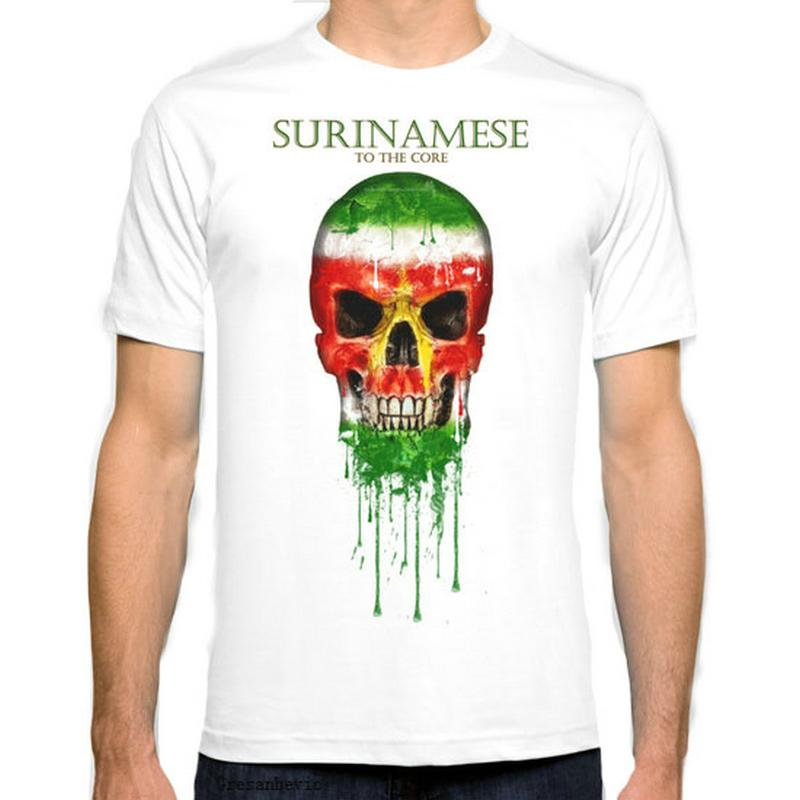 Suriname flag New Fashion Man T-shirt Coton O Neck Homme à manches courtes Homme