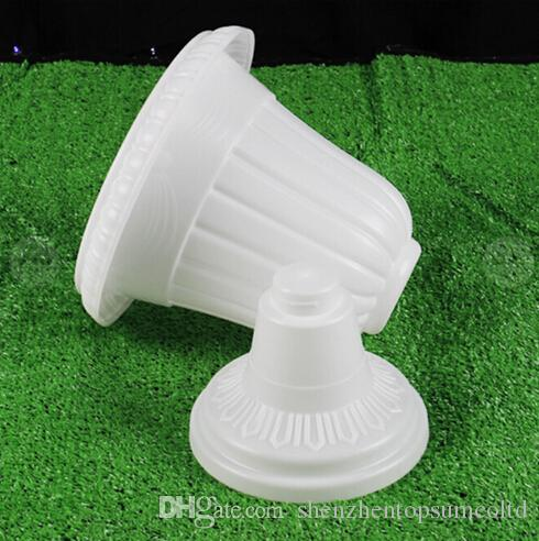 2018 Wedding White Plastic Flower Pots For Roman Pillar