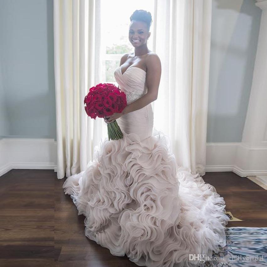 African mermaid wedding dresses 2017 gorgeous sweetheart for African white wedding dresses