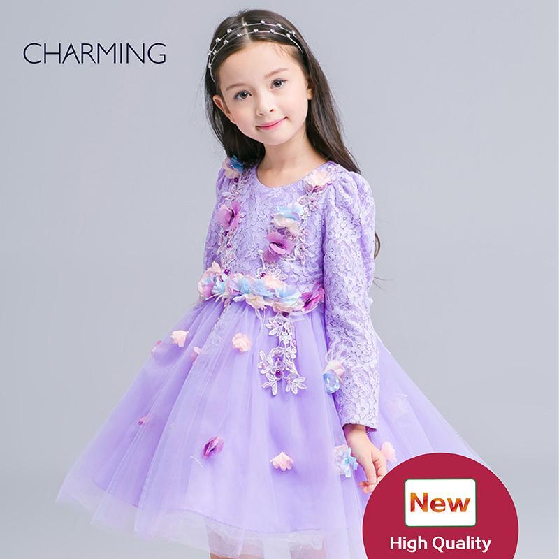 Girls Dresses Children Girl 7th Birthday Party Dress Child Dress ...