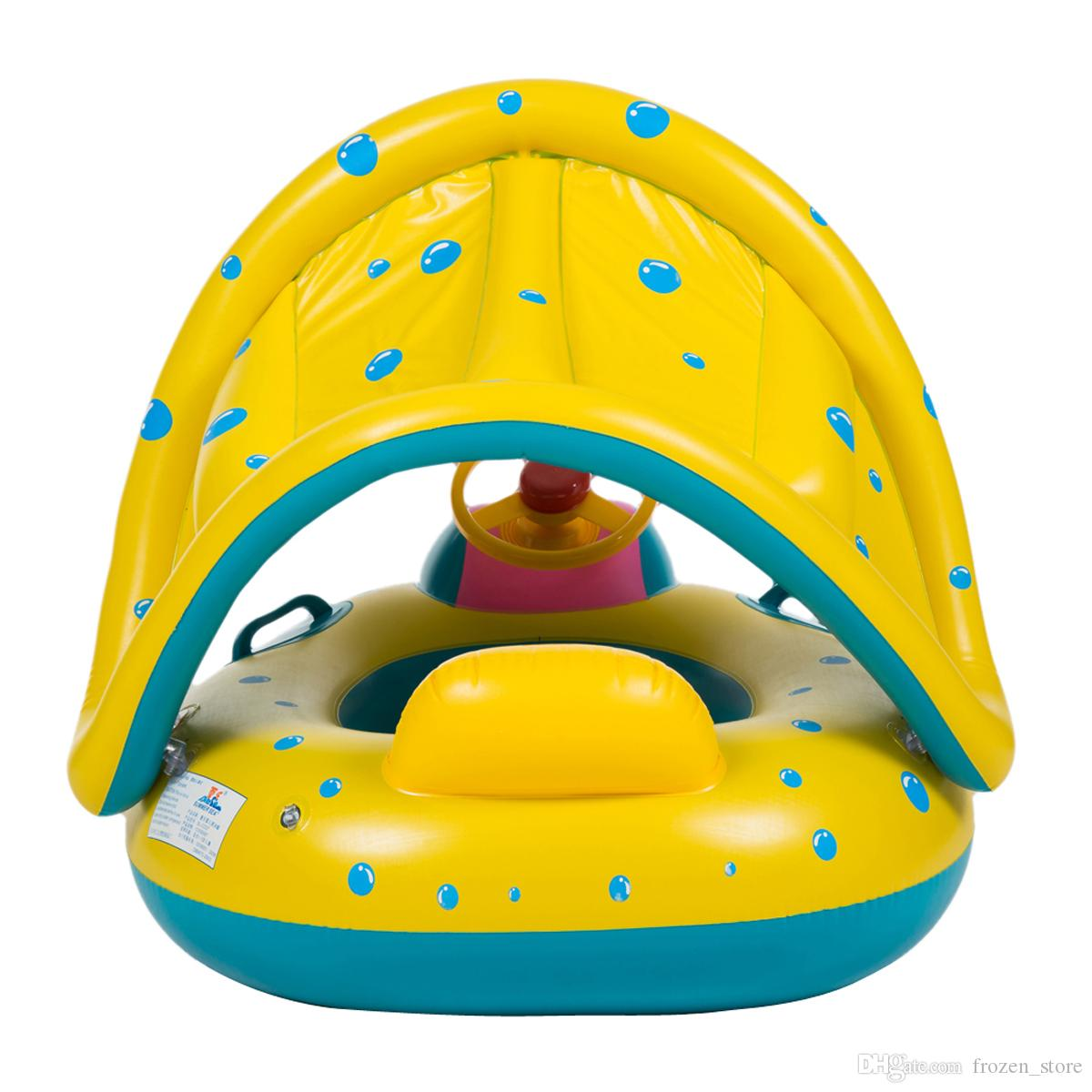 Product details of new inflatable floating swim ring kids children toy - Portable Summer Baby Kids Safety Swimming Ring Inflatable Swan Swim Float Water Fun Pool Toys Swim Ring Seat Boat Water Sport 2110113 Children Swimming