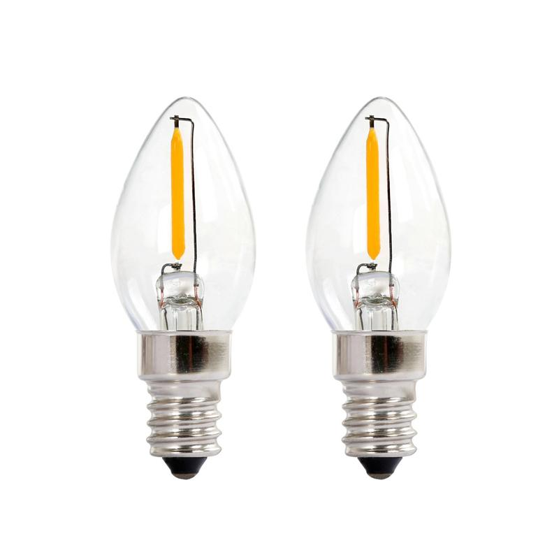C7 Led Filament Bulbs E12 Candelabra Base Household Night