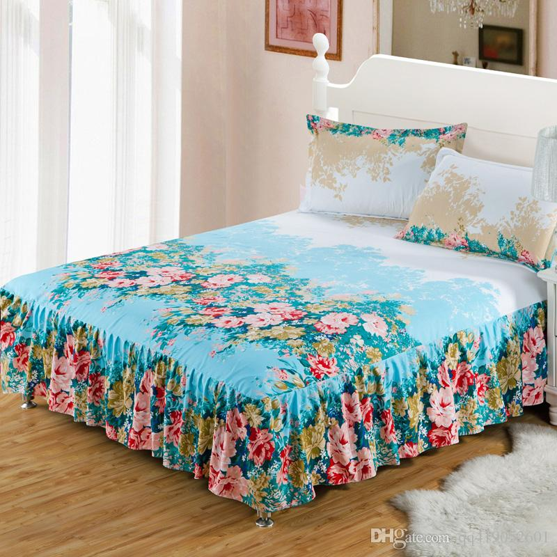 Using straight pins, secure the bed skirt to top of the box spring, making sure the bed skirt hangs evenly on all sides. Pin the Bed Skirt to Ensure Even Length Continue to pin the bed skirt to the mattress and make the length even on all sides.