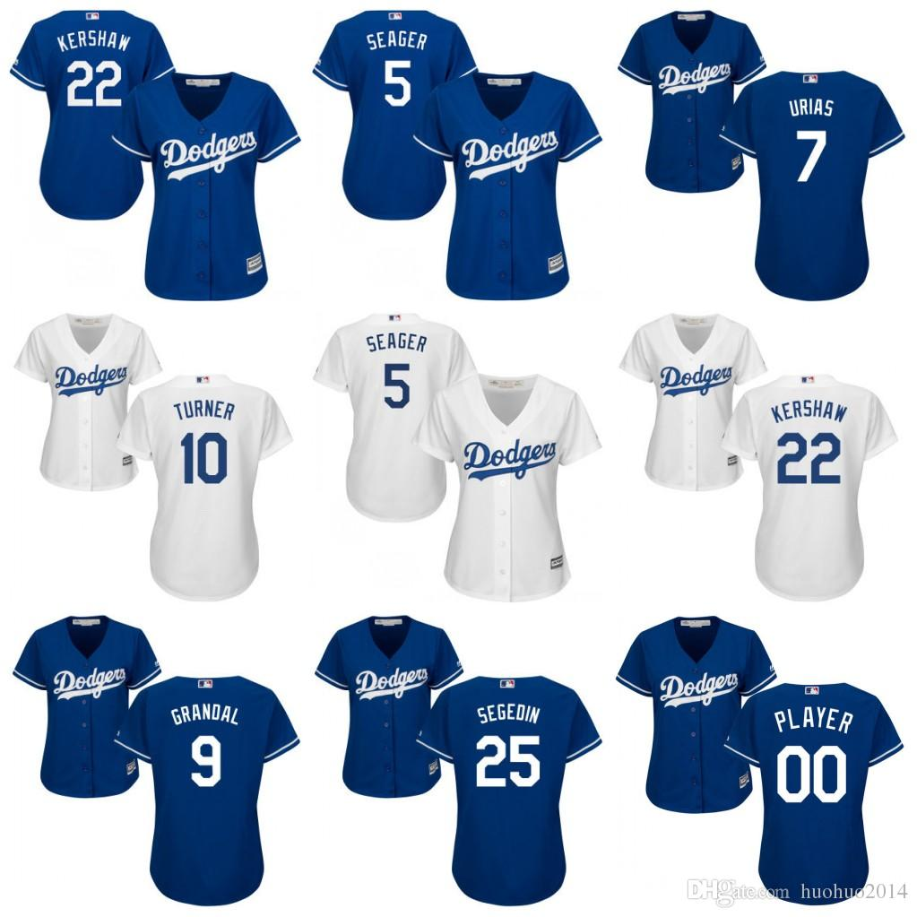 5 Corey Seager Los Angeles Dodgers Womens Jerseys 7 Julio Urias 9 Yasmani Granda
