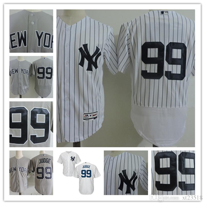 Hommes New York Yankees Jerseys # 99 Aaron Judge maison blanc Cool Base Jersey r