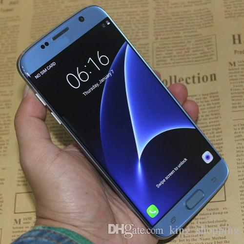 Blue Goophone s7 Edge Android 6.0 1gb 8gb 3G WCDMA Quad Core MTK6580 5.5 pouces