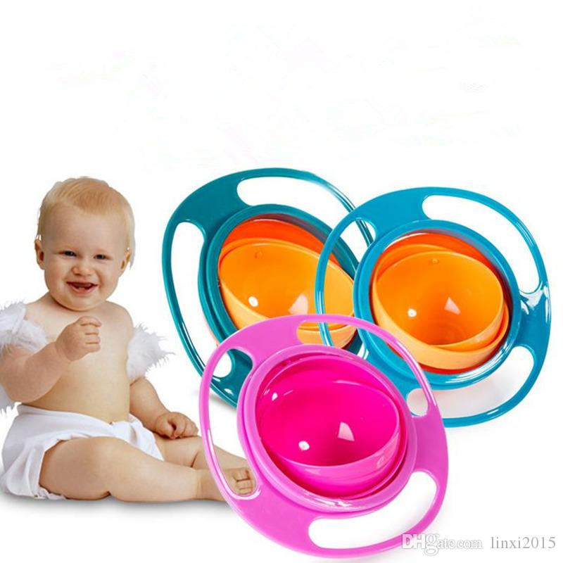 Baby Kid Food Spilling Gyro Bowl Plats 360 Rotation Non Spill Bowl Alimentation